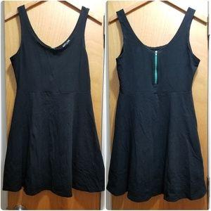 👽Express Flirty Flare Mini Dress - Blk/Teal👽